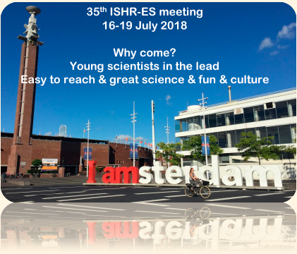advert for ISHR-ES meeting 2018 in Amsterdam